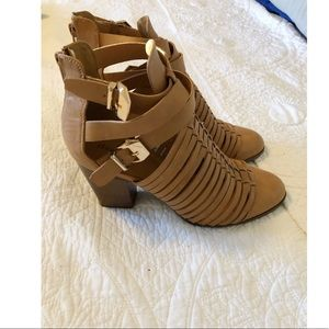 Charlotte Russe Ankle Booties with gold buckles